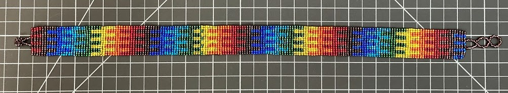 16 Row Beaded Necklace - Rainbow
