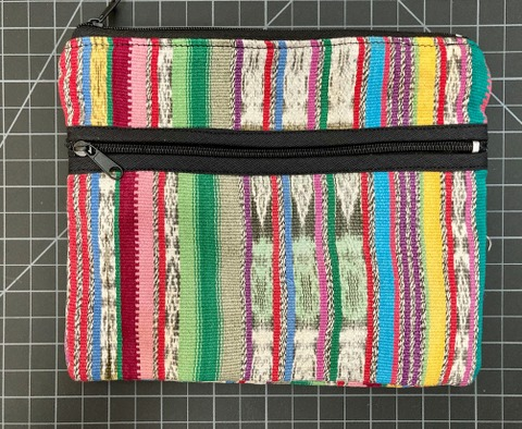 3 Zip Traditional Corte Lana Cosmetic Case