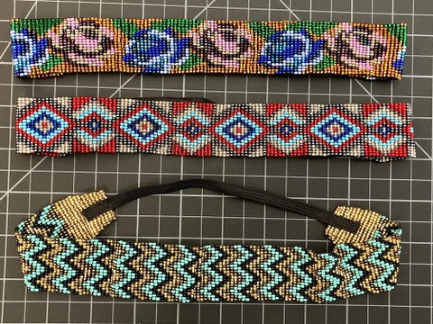 Beaded 20 Row Hairband