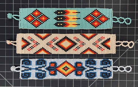 Beaded 21 Row Native American Style Bracelet Native American style
