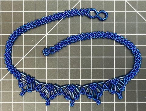 Beaded 5 Point Necklace - Solid Color