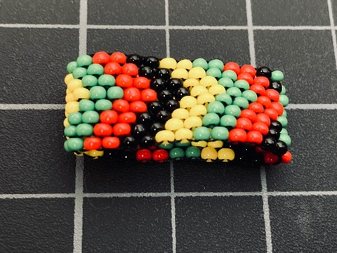 Beaded 8 Row Rasta Ring rasta / reggae