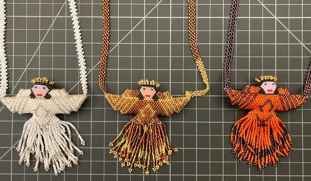 Beaded Angel Necklace - XL