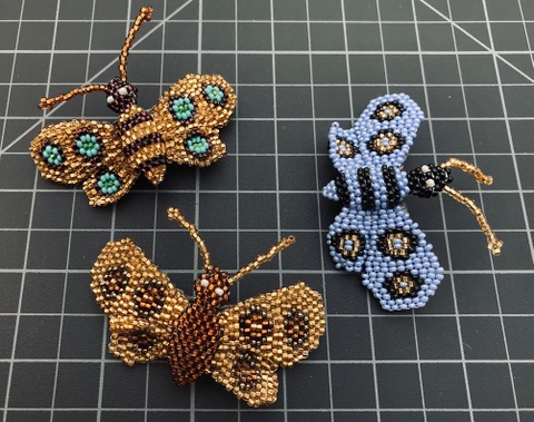 Beaded Butterfly Barrette small