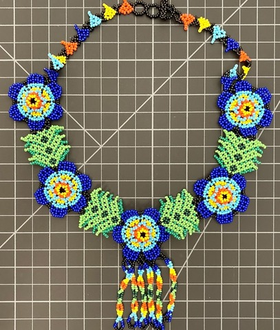 Beaded Flowers Necklace