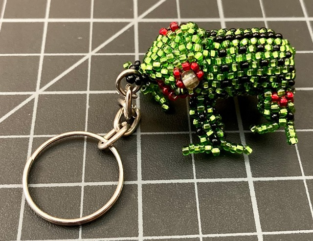 Beaded Frog Keychain
