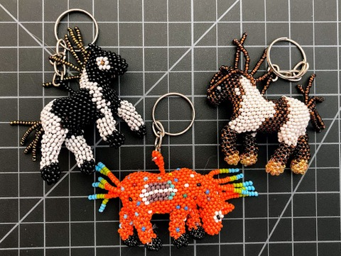 Beaded Horse Keychain