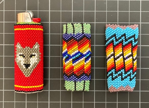 Beaded Lighter Holder