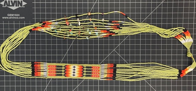 Beaded Native American Style Long Necklace native american style
