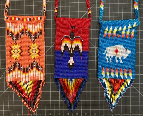 Beaded Native American Style Purse - good for cell phones Native American style