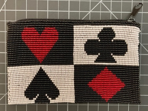 Beaded Purse to hold a pack of playing cards