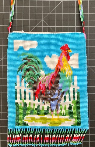 Beaded Rooster Purse