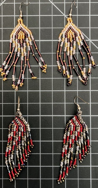 Beaded Traditional Earrings multicolor