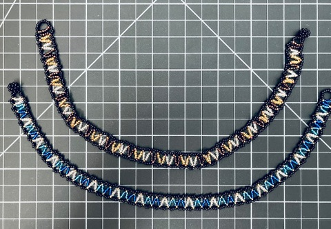 Beaded Zig Zag Necklace
