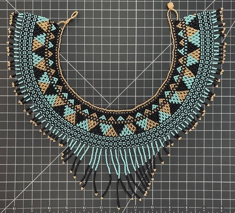 Cleopatra Long Fringe Necklace