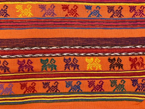 Comalapa Cloth- Yards Or Rolls Of Fabric-Orange