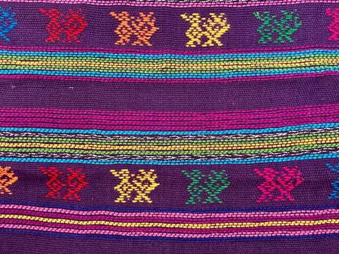 Comalapa Cloth- Yards Or Rolls Of Fabric-Purple