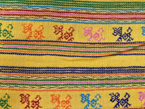 Comalapa Cloth- Yards Or Rolls Of Fabric-Yellow