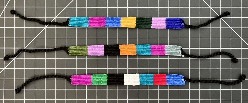 Cotton Block Friendship Bracelet 1/2 Inch
