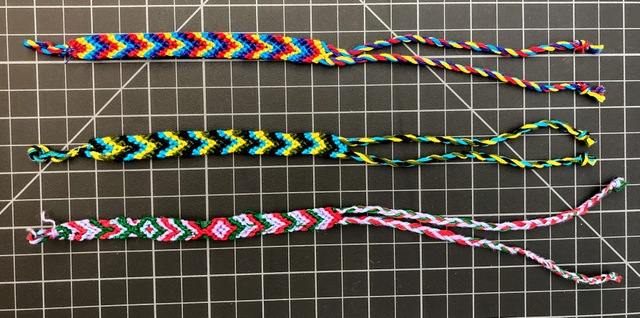 Cotton Chevron Friendship Bracelet 1/4 Inch