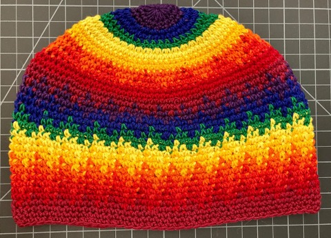 Cotton Kufi Hat - Rainbow Rainbow