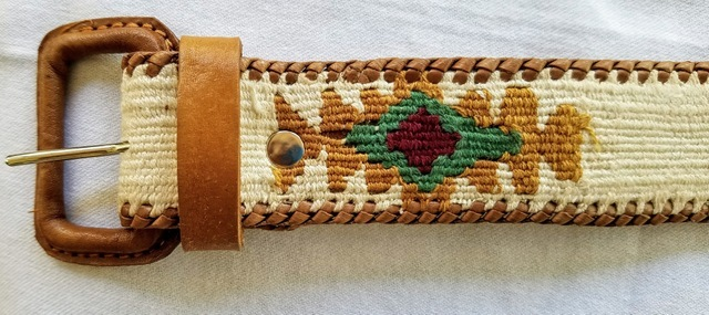 Cotton Leather Southwest Belt - variety of colors