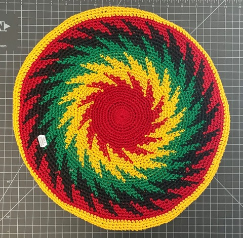 Cotton Tam Hat - Large Rasta