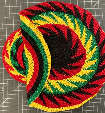Cotton Tam Hat With Brim - XL rasta