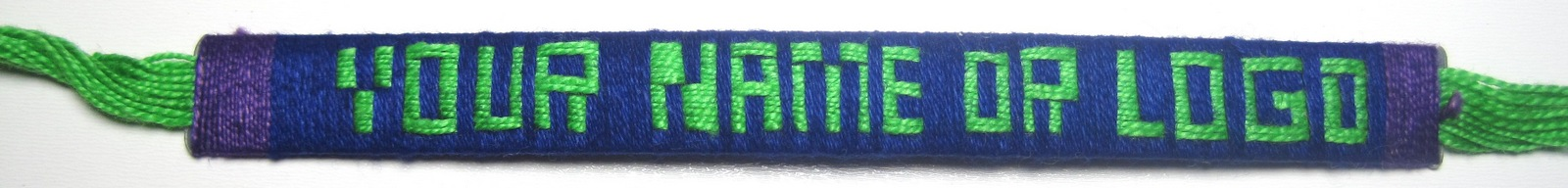 Custom Letters Cotton Friendship Bracelet With Internal Strip 1/2 Inch custom manufacturing