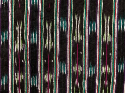 Jaspe Cloth (Ikat) Black Purple Green