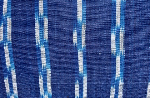 Jaspe Cloth (Ikat) Blue And White