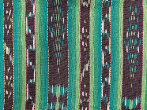 Jaspe Cloth (Ikat) Green Blue Purple