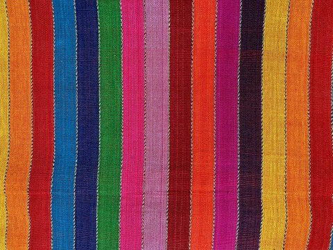 Jaspe Cloth (Ikat) Multicolor Stripe