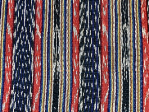 Jaspe Cloth (Ikat) Orange Black Blue