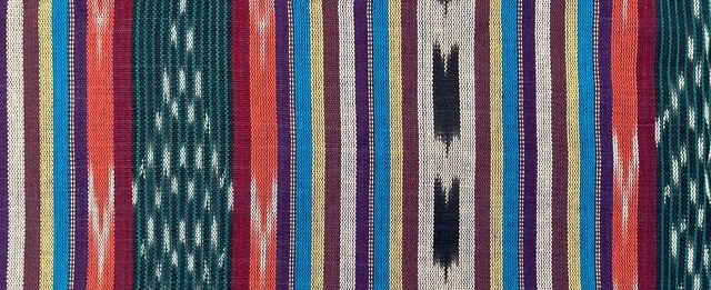 Jaspe Cloth (Ikat) Purple Red Blue
