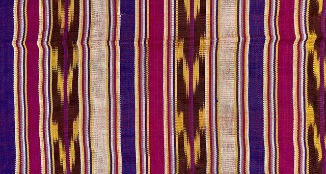 Jaspe Cloth (Ikat) fuschia purple yellow