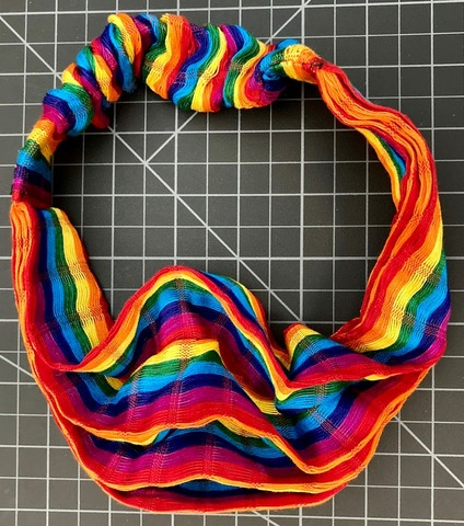 Large Scarf Hairband - Rainbow Rasta / Reggae