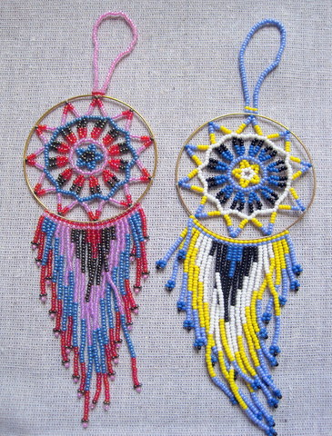 Native American Style Beaded Dreamcatcher Ornament Native American style