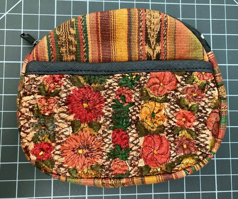 Oval Coin Purse - Overdye Embroidered