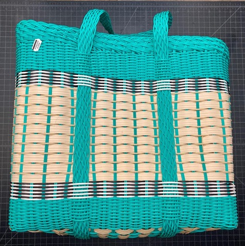 Plastic basket made from recycled plastic - large size