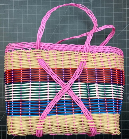 Plastic basket made from recycled plastic - small size