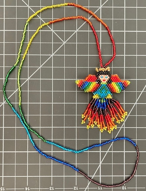 Rainbow Angel Necklace rainbow