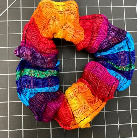 Rainbow Scrunchie Rainbow