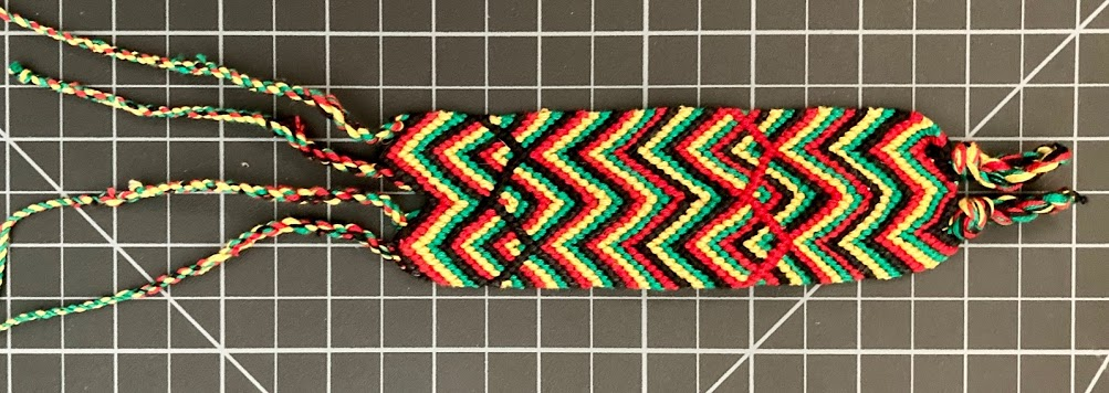 Rasta Cotton Chevron Friendship Bracelet 1.25 Inch