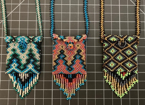 "Regular Beaded ""Medicine Pouch"" Necklace"