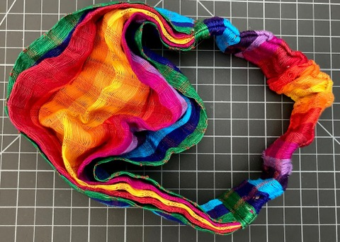 Scarf Hairband regular rainbow