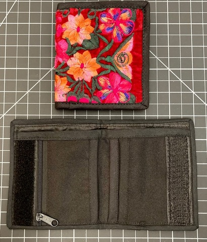 Velvet Embroidered Wallet