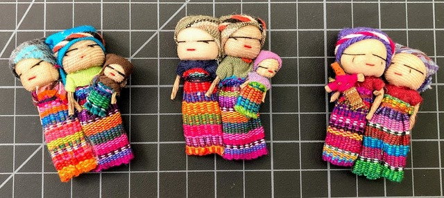 Worry Doll Couple With Child