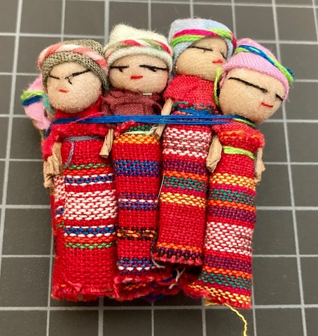 Worry Dolls - One Dozen 2 Inch Girls Red corporate giveaways