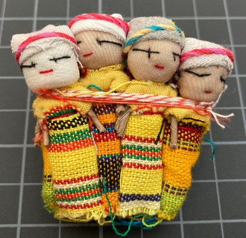 Worry Dolls - One Dozen 2 Inch Girls Yellow corporate giveaways